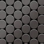 Mosaik Fliese massiv Metall Titan gebürstet in dunkelgrau 1, 6mm stark ALLOY Medallion-Ti-SB 0, 73 m2