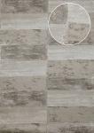 Stein-Kacheln Tapete Atlas ICO-5072-2 Vliestapete glatt mit Natur-Mustern schimmernd grau stein-grau quarz-grau 7, 035 m2