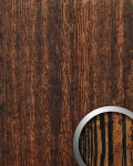 Wandpaneel Holz Optik WallFace 14807 WOOD Design Platte Blickfang Dekor selbstklebende Tapete kupfer-braun schwarz | 2, 60 qm