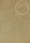 Spachtel-Putz Tapete Atlas INS-5079-6 Strukturtapete geprägt und Metallic Effekt oliv perl-beige grau-beige 7, 035 m2