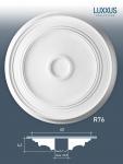 Zierrosette Stuck Orac Decor R76 LUXXUS Rosette Stuckrosette Decken Lampen Polyurethan | 62 cm Durchmesser