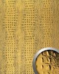 Wandpaneel 3D Luxus Leder WallFace 14300 CROCO Blickfang Dekor Wand-verkleidung selbstklebende Tapete Gold   2, 60 qm