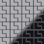 Mosaik Fliese massiv Metall Edelstahl marine gebürstet in grau 1, 6mm stark ALLOY Kink-S-S-MB Designed by Karim Rashid 0, 93 m2
