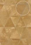 Präge Tapete Atlas SKI-5066-4 Vliestapete geprägt in Felloptik schimmernd gold ocker-gelb oliv-braun platin 7, 035 m2