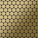 Mosaik Fliese massiv Metall Titan gebürstet in gold 1, 6mm stark ALLOY Dollar-Ti-GB 0, 88 m2