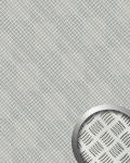 Wandpaneel ALU STEP Design WallFace 11308 Platte Kunststoff Metall Blech Optik Wand Boden Deko silber metallic | 2, 60 qm