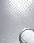 Wandpaneel Spiegel Mosaik Classic selbstklebend WallFace 14281 M-Style RHOMBUS Wandverkleidung Design silber | 2, 60 qm