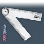 Speziallineal Winkelmesser Schmiege Orac Decor Zubehör FB 15 | transparent flexibel biegsam