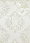 Barock Tapete Atlas ATT-5083-1 Luxus Vliestapete geprägt mit floralen Ornamenten glänzend weiß creme-weiß silber 7, 035 m2