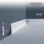 Sockelleiste Orac Decor SX180 MODERN HIGH LINE Zierleiste Fußleiste Modernes Design weiß 2m