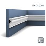 Türumrandung Orac Decor DX174-2300 LUXXUS Sockelleiste Wandleiste Zeitloses Klassisches Design weiß 2, 3m