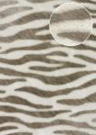 Tiermotiv Tapete Atlas SKI-5069-4 Vliestapete geprägt mit Zebramuster schimmernd weiß perl-weiß terra-braun blass-braun 7, 035 m2
