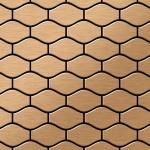 Mosaik Fliese massiv Metall Titan gebürstet in kupfer 1, 6mm stark ALLOY Karma-Ti-AB Designed by Karim Rashid 0, 86 m2
