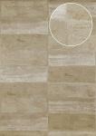 Stein-Kacheln Tapete Atlas ICO-5072-6 Vliestapete glatt mit Natur-Mustern schimmernd grau oliv-grau braun-grau 7, 035 m2