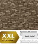 3D Stein Vliestapete EDEM 918-35 XXL geprägte Naturstein Bruchstein-Optik hochwertig braun grau 10, 65 qm