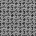 Mosaik Fliese massiv Metall Edelstahl marine gebürstet in grau 1, 6mm stark ALLOY Swiss Cross-S-S-MB 0, 88 m2