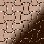Mosaik Fliese massiv Metall Titan hochglänzend in kupfer 1, 6mm stark ALLOY Infinit-Ti-AM Designed by Karim Rashid 0, 91 m2