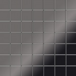 Mosaik Fliese massiv Metall Titan hochglänzend in dunkelgrau 1, 6mm stark ALLOY Attica-Ti-SM 0, 85 m2