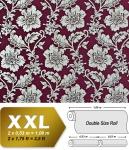 Blumen Tapete Luxus Vliestapete XXL EDEM 995-35 Florale Barock-Optik Metallic Effekt aubergine bordeaux rot silber metallic 10, 65 m2