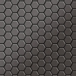 Mosaik Fliese massiv Metall Titan gebürstet in dunkelgrau 1, 6mm stark ALLOY Honey-Ti-SB 0, 92 m2
