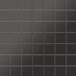 Mosaik Fliese massiv Metall Titan gebürstet in dunkelgrau 1, 6mm stark ALLOY Attica-Ti-SB 0, 85 m2