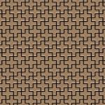Mosaik Fliese massiv Metall Titan gebürstet in kupfer 1, 6mm stark ALLOY Swiss Cross-Ti-AB 0, 88 m2