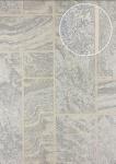 Stein-Kacheln Tapete Atlas 24C-5061-3 Luxus Vliestapete strukturiert in Steinoptik und metallischen Akzenten beige elfenbein weiß silber 7, 035 m2