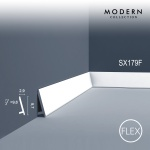 Sockelleiste Orac Decor SX179F MODERN DIAGONAL Flexible Leiste Zierleiste Modernes Design weiß 2m