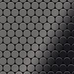 Mosaik Fliese massiv Metall Titan hochglänzend in dunkelgrau 1, 6mm stark ALLOY Dollar-Ti-SM 0, 88 m2