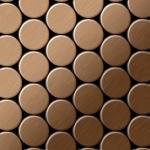 Mosaik Fliese massiv Metall Titan gebürstet in kupfer 1, 6mm stark ALLOY Dome-Ti-AB 0, 73 m2