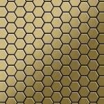 Mosaik Fliese massiv Metall Titan gebürstet in gold 1, 6mm stark ALLOY Honey-Ti-GB 0, 92 m2