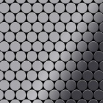 Mosaik Fliese massiv Metall Edelstahl marine hochglänzend in grau 1, 6mm stark ALLOY Dollar-S-S-MM 0, 88 m2