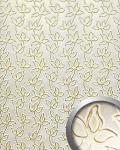 Wandpaneel Leder Blumen Dekor WallFace 14790 FLORAL ALISE Design Paneel selbstklebend gold weiß | 2, 60 qm