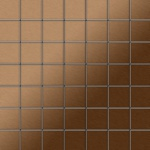 Mosaik Fliese massiv Metall Titan gebürstet in kupfer 1, 6mm stark ALLOY Attica-Ti-AB 0, 85 m2