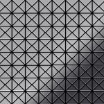 Mosaik Fliese massiv Metall Edelstahl marine hochglänzend in grau 1, 6mm stark ALLOY Deco-S-S-MM 1 m2