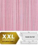 Streifen Tapete Vliestapete EDEM 673-96 XXL Designer Kult-Tapete rot-violett weinrot weiß dezente silberne 10, 65 qm