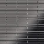 Mosaik Fliese massiv Metall Titan hochglänzend in dunkelgrau 1, 6mm stark ALLOY Deedee-Ti-SM 0, 63 m2