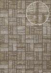 Präge Tapete Atlas STI-1015-3 Vliestapete geprägt in Lederoptik schimmernd braun grau-beige perl-beige perl-gold 7, 035 m2