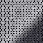 Mosaik Fliese massiv Metall Edelstahl hochglänzend in grau 1, 6mm stark ALLOY Penny-S-S-M 0, 88 m2