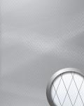 Wandpaneel Spiegel Mosaik selbstklebend spiegelnd WallFace 14282 M-Style DIAGONAL Wandverkleidung Design silber 2, 6 qm