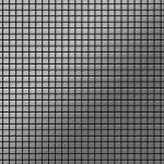 Mosaik Fliese massiv Metall Edelstahl gebürstet in grau 1, 6mm stark ALLOY Glomesh-S-S-B 1, 07 m2