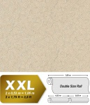 Spachtel Vliestapete Putz Tapete XXL EDEM 925-33 Doppelte Breite Deluxe Venezianische spachtel-optik beige silber schimmer 10, 65 qm