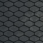 Mosaik Fliese massiv Metall Rohstahl gewalzt in grau 1, 6mm stark ALLOY Karma-RS Designed by Karim Rashid 0, 86 m2