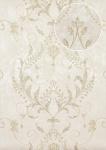 Barock Tapete Atlas ATT-5084-2 Vliestapete geprägt mit floralen Ornamenten glänzend creme weiß gold 7, 035 m2