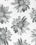Retro Blumen Tapete EDEM 058-26 Retro 70er Sweet Summer Design Floral Tapete Sommer Blumen creme-weiß hell-grau graphite-grau