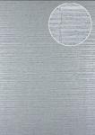 Streifen Tapete Atlas 24C-5054-5 Vliestapete strukturiert mit grafischem Muster und Metallic Effekt silber platin grau 7, 035 m2