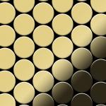 Mosaik Fliese massiv Metall Messing gewalzt in gold 1, 6mm stark ALLOY Medallion-BM 0, 73 m2