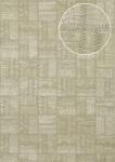 Präge Tapete Atlas STI-5101-2 Vliestapete geprägt in Lederoptik schimmernd creme hell-elfenbein perl-beige gold 7, 035 m2