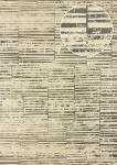 Streifen Tapete Atlas 24C-5056-4 Vliestapete glatt mit grafischem Muster und Metallic Effekt beige braun elfenbein silber 7, 035 m2