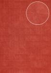 Stein-Kacheln Tapete Atlas INS-5080-8 Strukturtapete geprägt mit geometrischen Formen glänzend rot braun-rot perl-rubin-rot 7, 035 m2